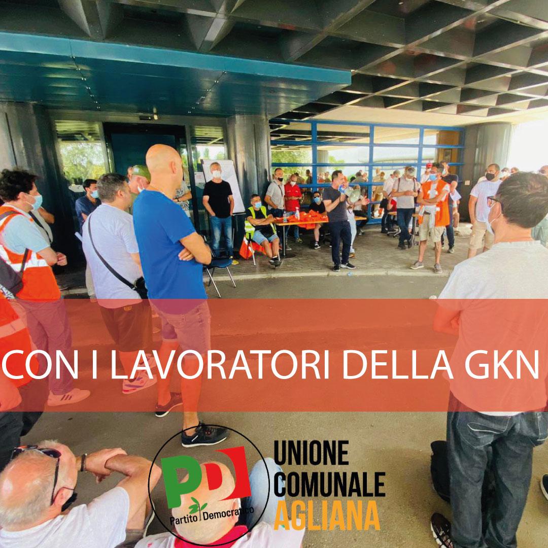 Con i lavoratori della GKN
